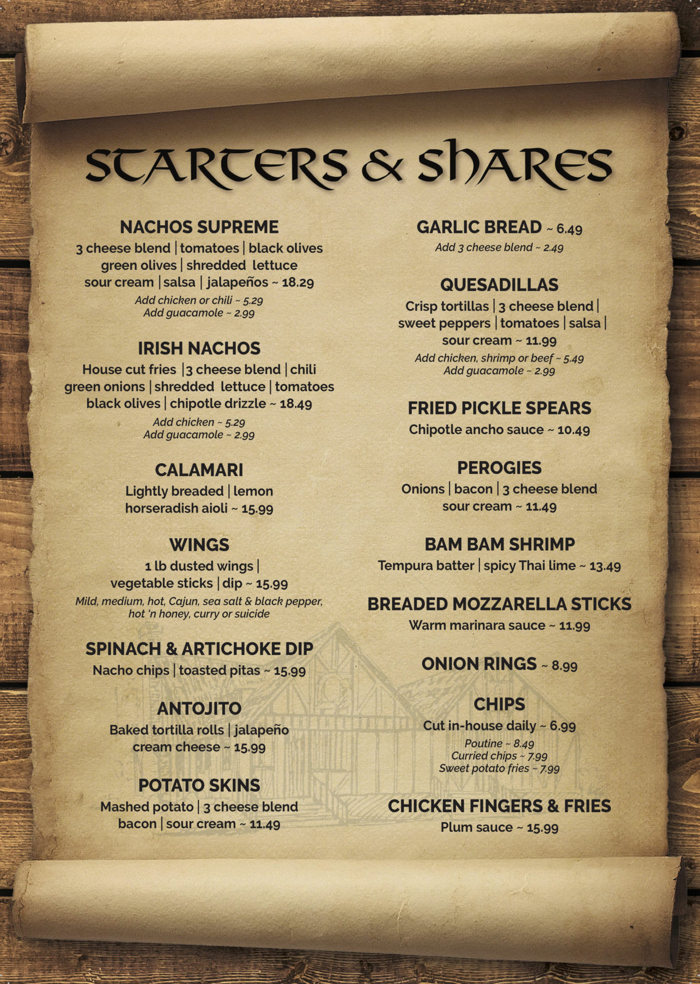 Shakespeare Menu FINAL